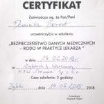 certyfikat_prawo_medyczne_RODO